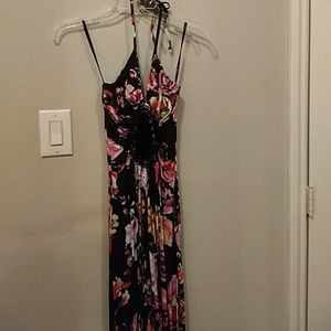 SKY floral print maxi dress with embroidery NWT